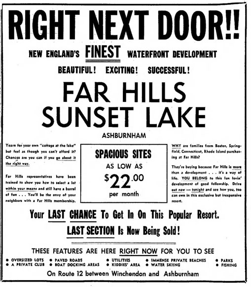 Far Hills Sunset Lake